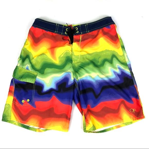 d735bfb883 OP Ocean Pacific 32 Men's Board Shorts Swim Surf. M_5b2e991b194dade7469df859